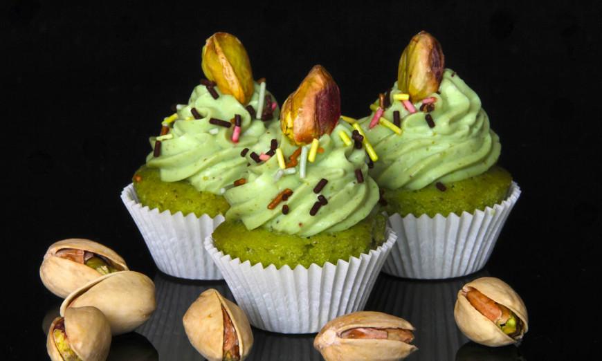 Cupcakes pistache ©Toma sans gluten traiteur