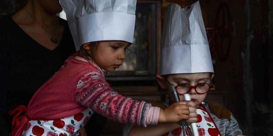 Petits et grands en cuisine à la Recyclerie / 1