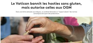Hosties sans gluten, ça existe ?! ©France Info