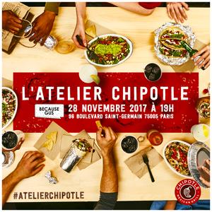 Tacos sans gluten : les adresses à Paris ! L'atelier Chipotle avec ©Because Gus