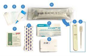Le kit de l'autotest pour dépister la maladie cœliaque chez soi ©AAZ LMB