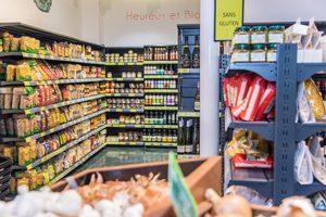 Les rayons du foodstore sans gluten à Paris ©Edmond