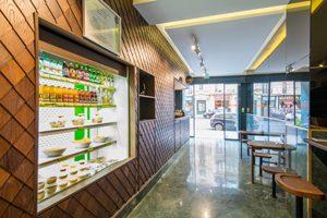 L'espace corner ©Edmond foodstore sans gluten à Paris