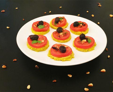 Des mini-pizzas sans gluten pour l'apéro ! ©Because Gus
