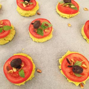 Et voilà vos mini-pizzas sans gluten !! ©Because Gus