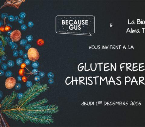 On est ready pour la Gluten Free Christmas Party ! C'est le jeudi 1er décembre à la Biocoop Alma Trinité ©Because Gus - Dmytro Yakymuk