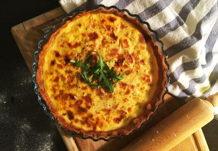 La recette de la quiche lorraine sans gluten ni lactose avec Nature & Cie ! ©Because Gus