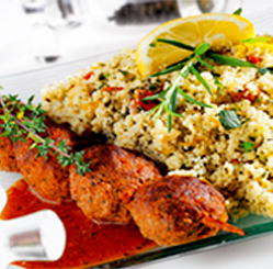 Boulettes et taboulé ©L'Instant Plaisir restaurant sans gluten à Illkirch