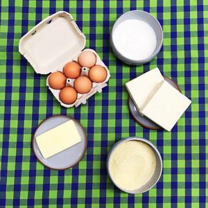 Les ingrédients pour réussir cette recette de galette des rois sans gluten ©Because Gus