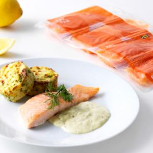 Saumon poché façon sans gluten chez Ikea