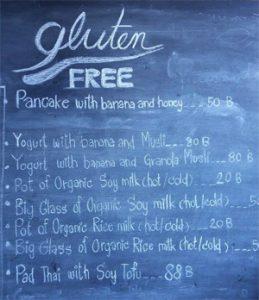 Menu gluten free à Chang Maï ! ©Tour du monde gluten free