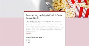 ZE questionnaire pour devenir jury du Prix du Produit Sans Gluten 2017 ©Because Gus