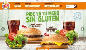 Les menus sans gluten à Barcelone ©Burger King