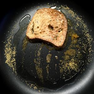 Hop le pain perdu sans gluten et vegan grille ! ©Because Gus