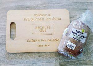 Le gagnant du Prix du Produit Sans Gluten 2017 et son prix ! ©Genius