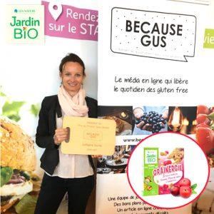 Grainergie remporte le Prix du Produit Sans Gluten 2017 ! ©Jardin Bio