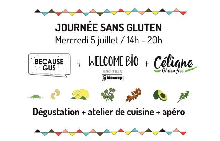 Atelier et apéro sans gluten le 5 juillet chez Welcome Bio avec Céliane