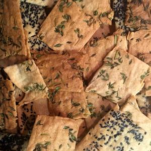 Les crackers sans gluten au sarrasin réalisés avec Céliane ! ©Because Gus
