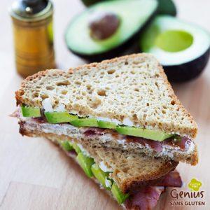 Le bon plan pour des courses sans gluten avec Genius - Club sandwich encore plus délicieux ? ©Genius