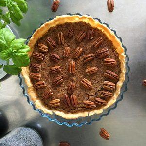 La delicious tarte aux noix de pécan sans gluten ! Taaaadaaaa ©Because Gus