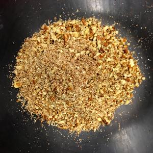 La delicious tarte aux noix de pécan sans gluten ! Les noix mixées ©Because Gus