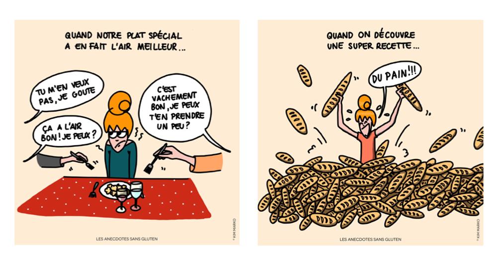 Caricatures sans gluten - ©Anecdotes Sans Gluten