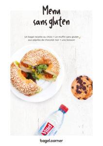 Et voilà le menu ! ©Bagel Corner -Bagel Corner lance son bagel sans gluten