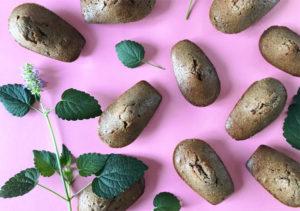 Des madeleines sans gluten à l'agastache ! ©Because Gus