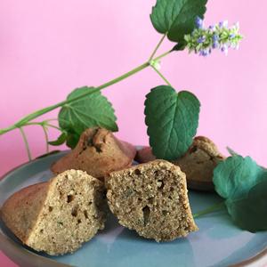 Des madeleines sans gluten à l'agastache ! Et voilà le résultat ! ©Because Gus