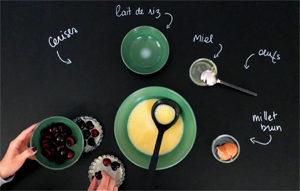 Un clafoutis sans gluten et sans sucre raffiné ?! Le dressage ©Because Gus