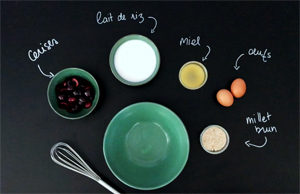 Un clafoutis sans gluten et sans sucre raffiné ?! - Les ingrédients ©Because Gus
