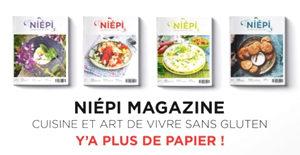 Niepi, le magazine d'art de vivre sans gluten - Y a plus de papier ! ©Niepi