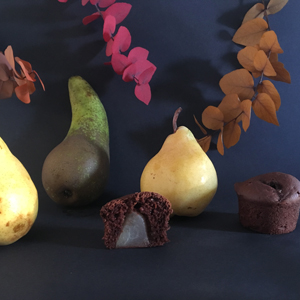 Muffins poire-chocolat sans gluten et vegan - Les fameux ! ©Because Gus