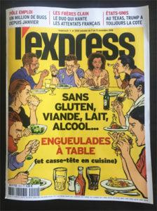 Quand L'Express culpabilise les mangeurs sans… - Le numéro de L'Express ©Because Gus