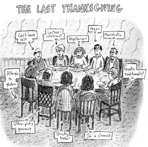 Quand L'Express culpabilise les mangeurs sans… The Last Thanksgiving ©Roz Chast