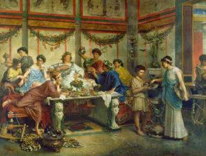 L'intolérance au gluten, une histoire qui date - Banquet Romain de ©Roberto Bompiani