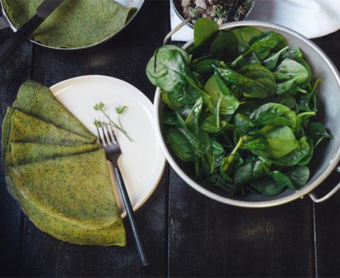 La recette des crêpes de légumes sans gluten ©Sacha Soffer
