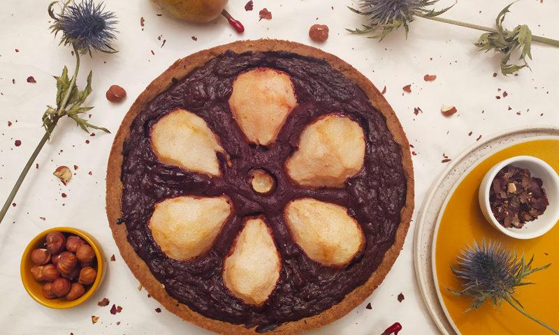 La tarte poire-chocolat sans gluten et à tomber ! ©Because Gus