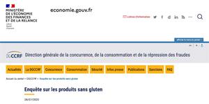 Que dit l'enquête sur les produits sans gluten de la DGCCRF ?