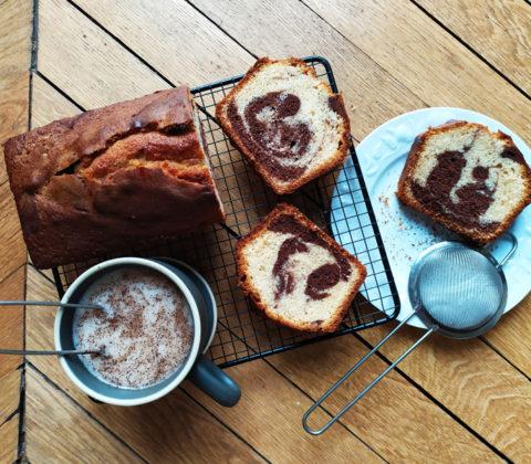 L'incroyable recette du cake marbré sans gluten et sans lait ©Because Gus