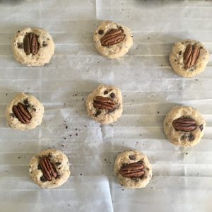 Cookies sans gluten au chocolat et noix de pécan ©Because Gus