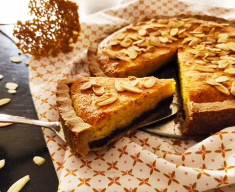 La tarte choco-frangipane sans gluten et sans lait