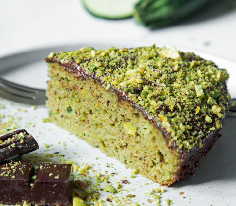 Le gâteau courgette-pistache sans gluten qui fait du bien !