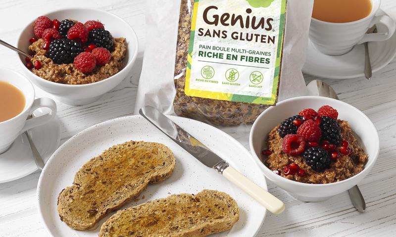 Le Pain Boule Multi-Graines Riche en Fibre de Genius, meilleur pain sans gluten ! ©Genius