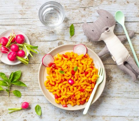 Coquillettes sans gluten à la sauce tomate pour les petits et les grands ©Ma Vie Sans Gluten